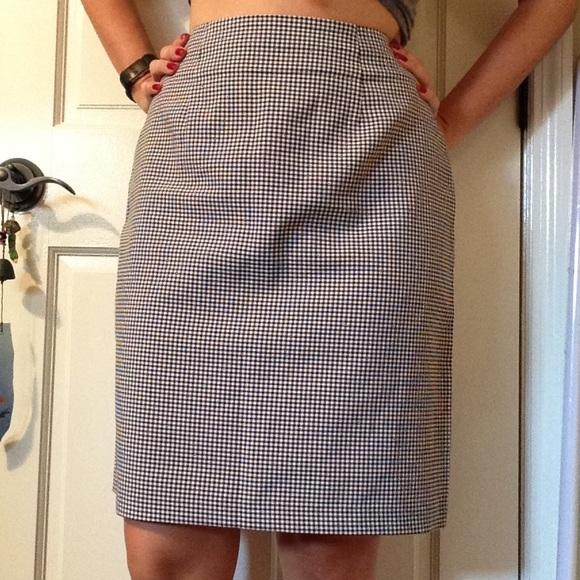 e986ab368 Dress Barn Skirts | Black And White Gingham Pencil Skirt | Poshmark